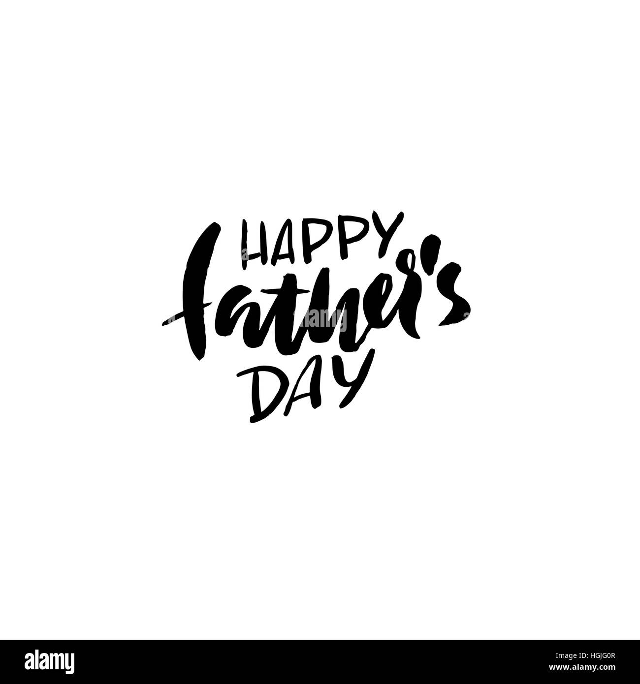 happy father s day inscription vector illustration father s day