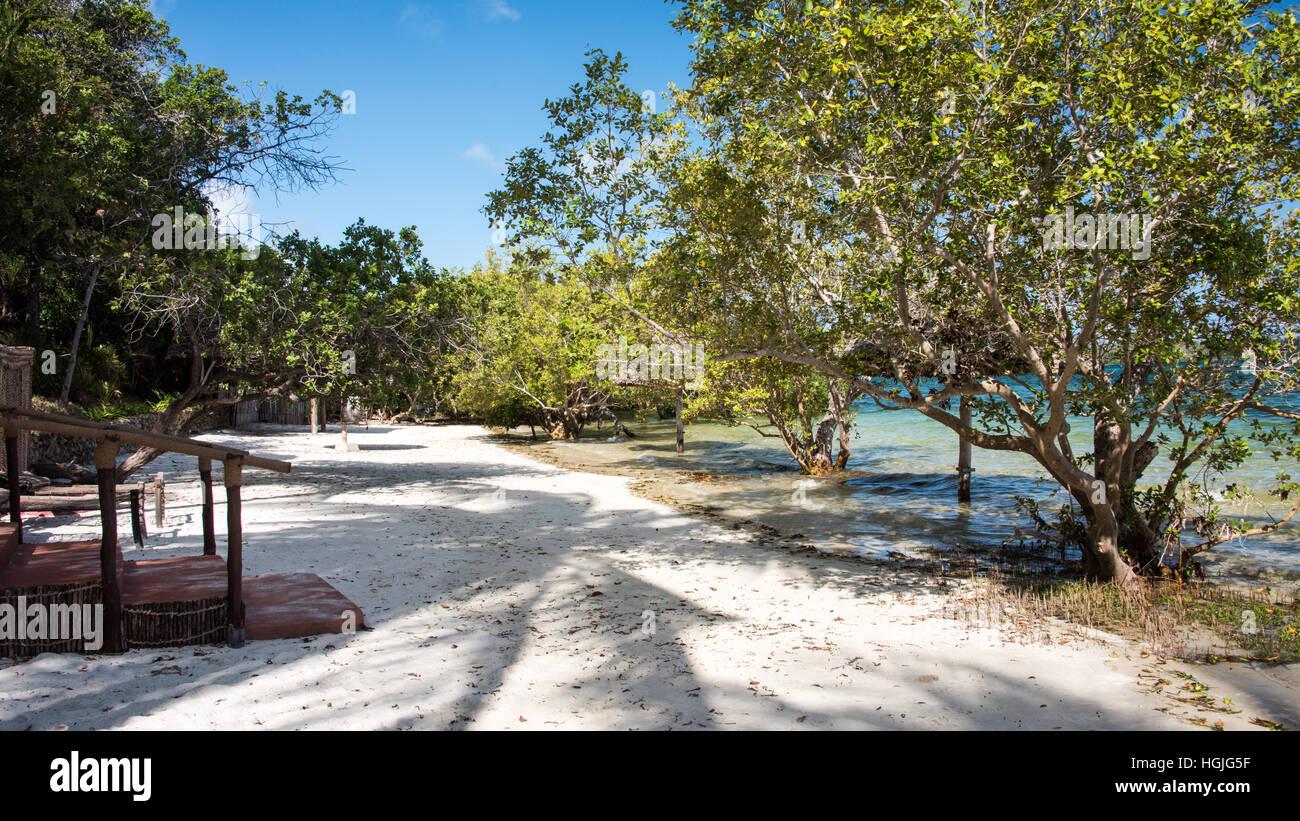Beach on Mafia Island, Tamzania - Stock Image