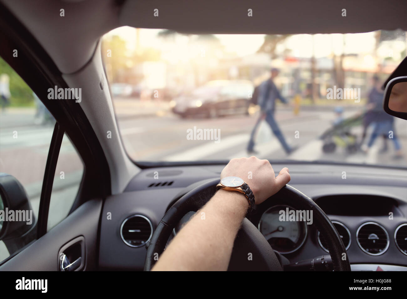 Pedestrian crossing for pedestrians - Stock Image