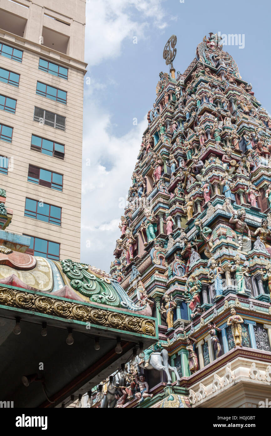 Hindu Temple in central Kuala Lumpur, Malaysia. - Stock Image
