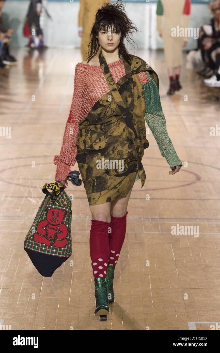 80e08ea21bd Vivienne Westwood Catwalk at London Fashion Week MenÂ_s AW17, LFWM AW17.  London 09/