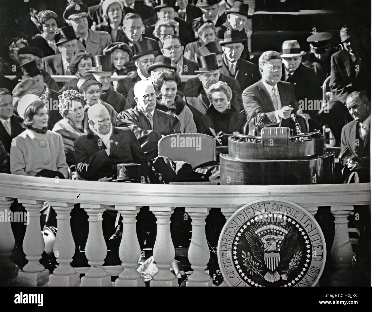 jfk inaugural address audience