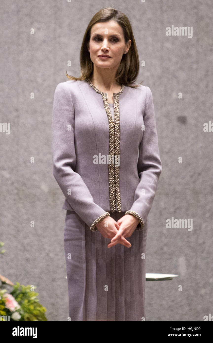 Madrid, Spain. 20th Jan, 2017. Spanish Queen Letizis attends the Tomás Prieto Awards 2017 in Madrid on 20 January Stock Photo