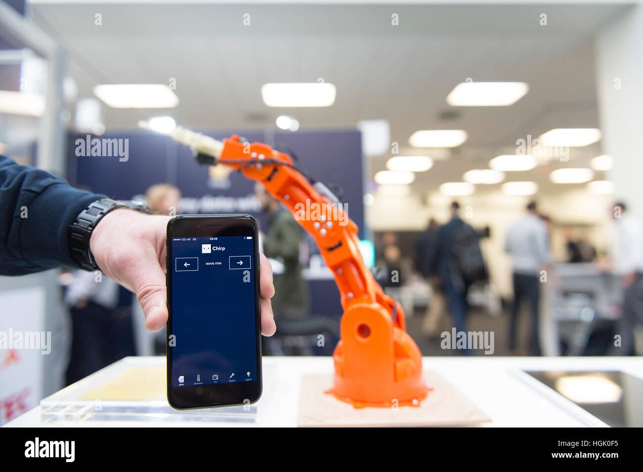 Olympia, London, UK. 23rd January, 2017. IoT Tech Expo opens. The second Internet of Things global show brings together - Stock Image