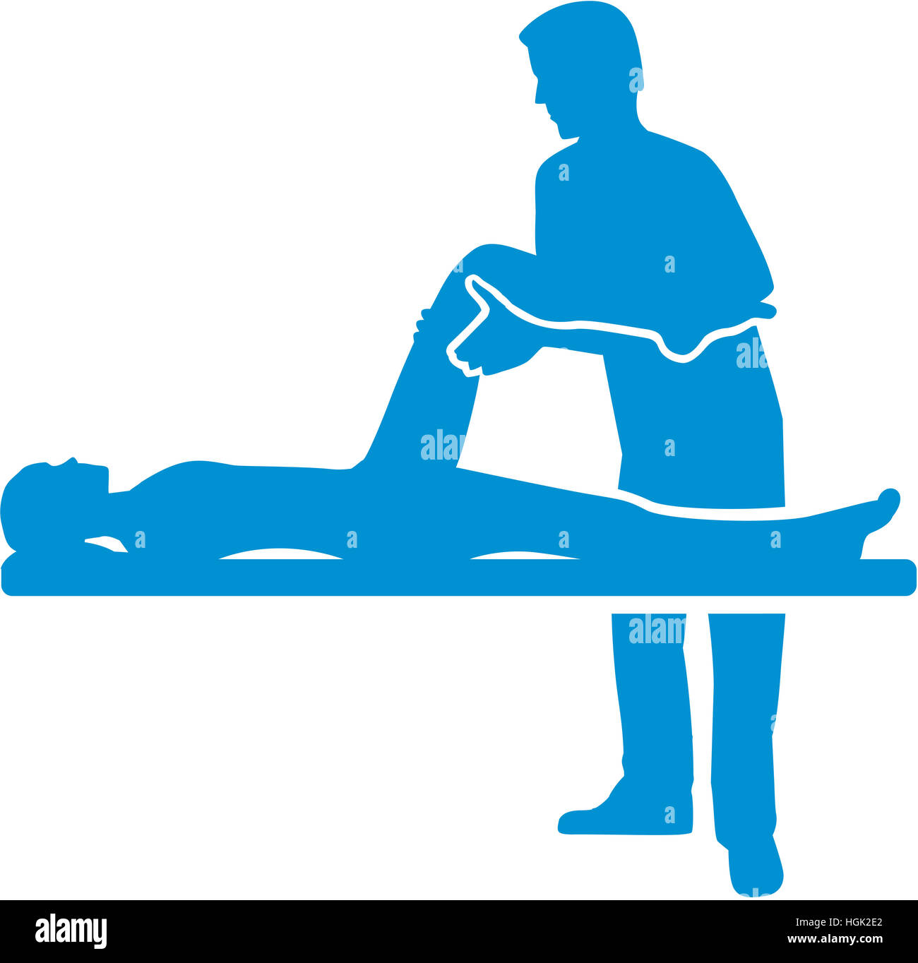 Physical therapy silhouette - Stock Image