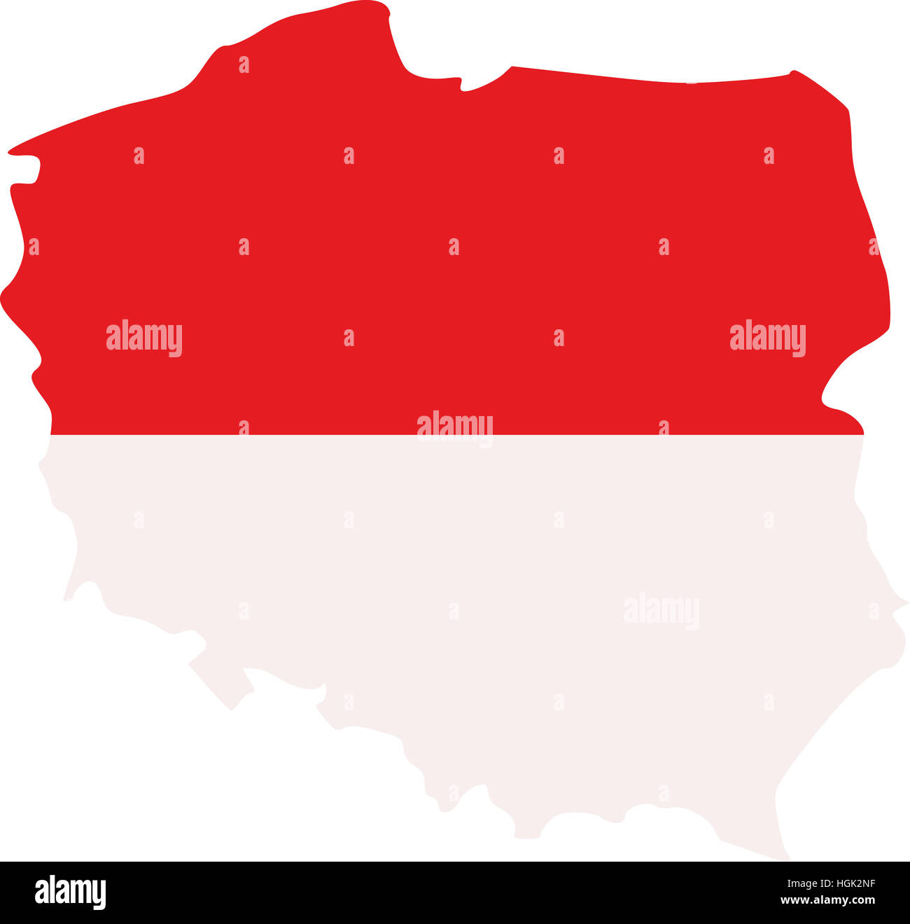Poland map with flag Stock Photo: 130726331 - Alamy