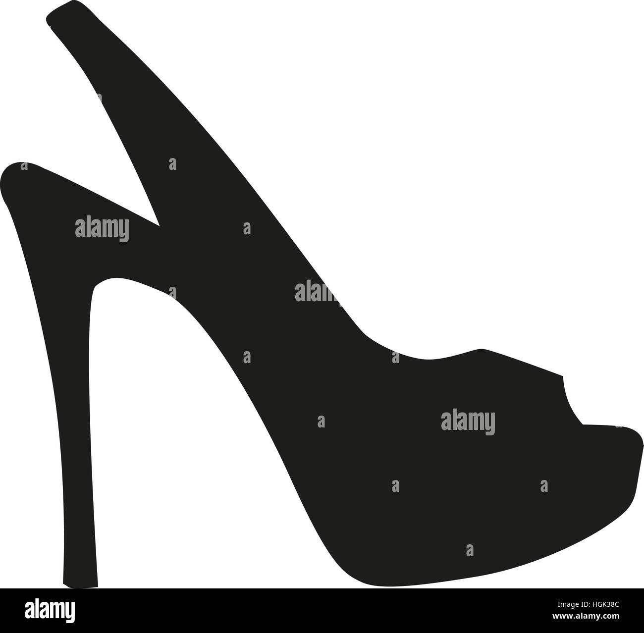 Peep toe high heel - Stock Image