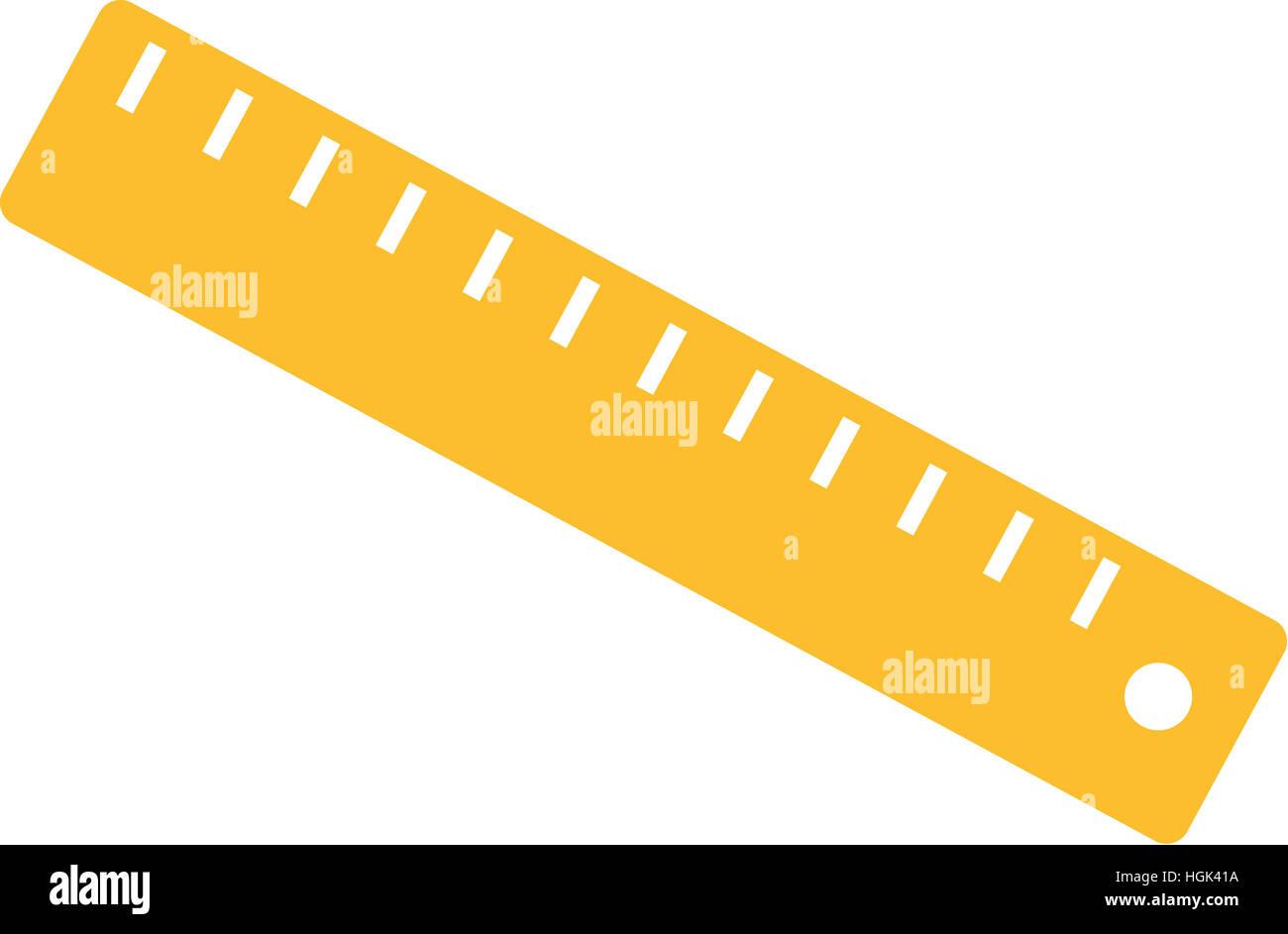 Yellow Ruler - Stock Image