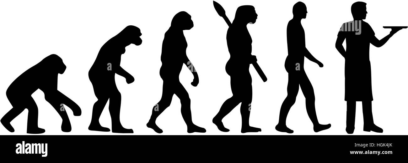 Server evolution - Stock Image