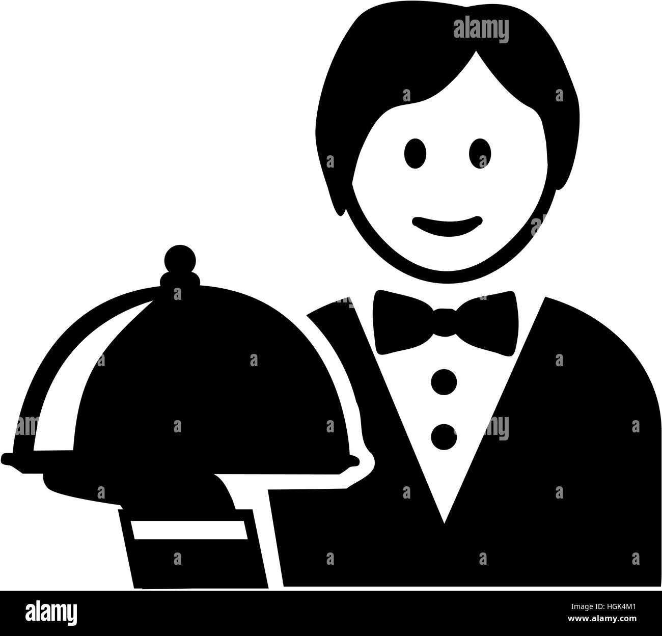 Server cartoon - Stock Image