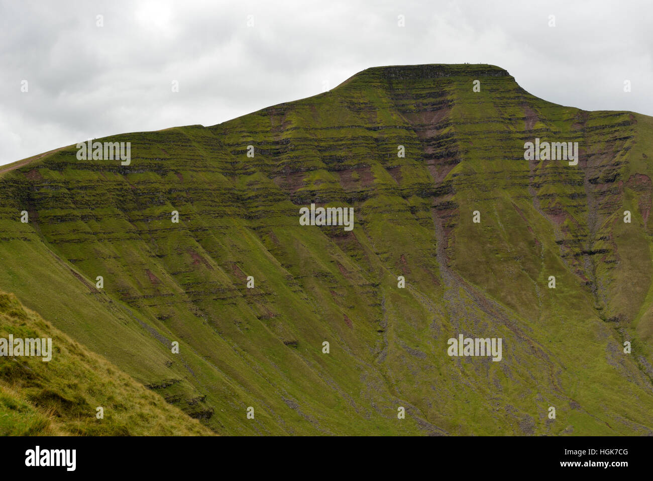 Pen y Fan from Cribyn, Brecon Beacons Stock Photo