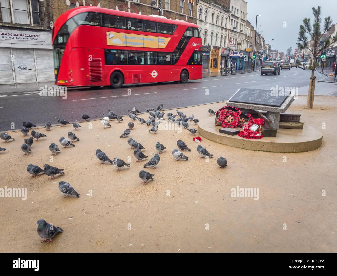 War Memorial, Mornington Crescent, London - Stock Image