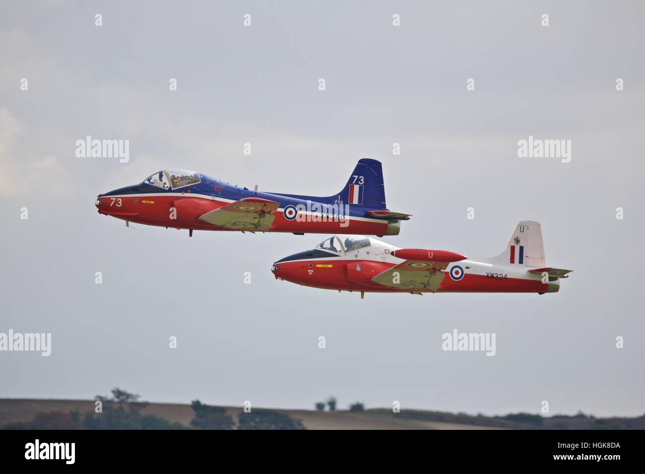 Two Jet Provost aircraft at IWM Duxford - Stock Image