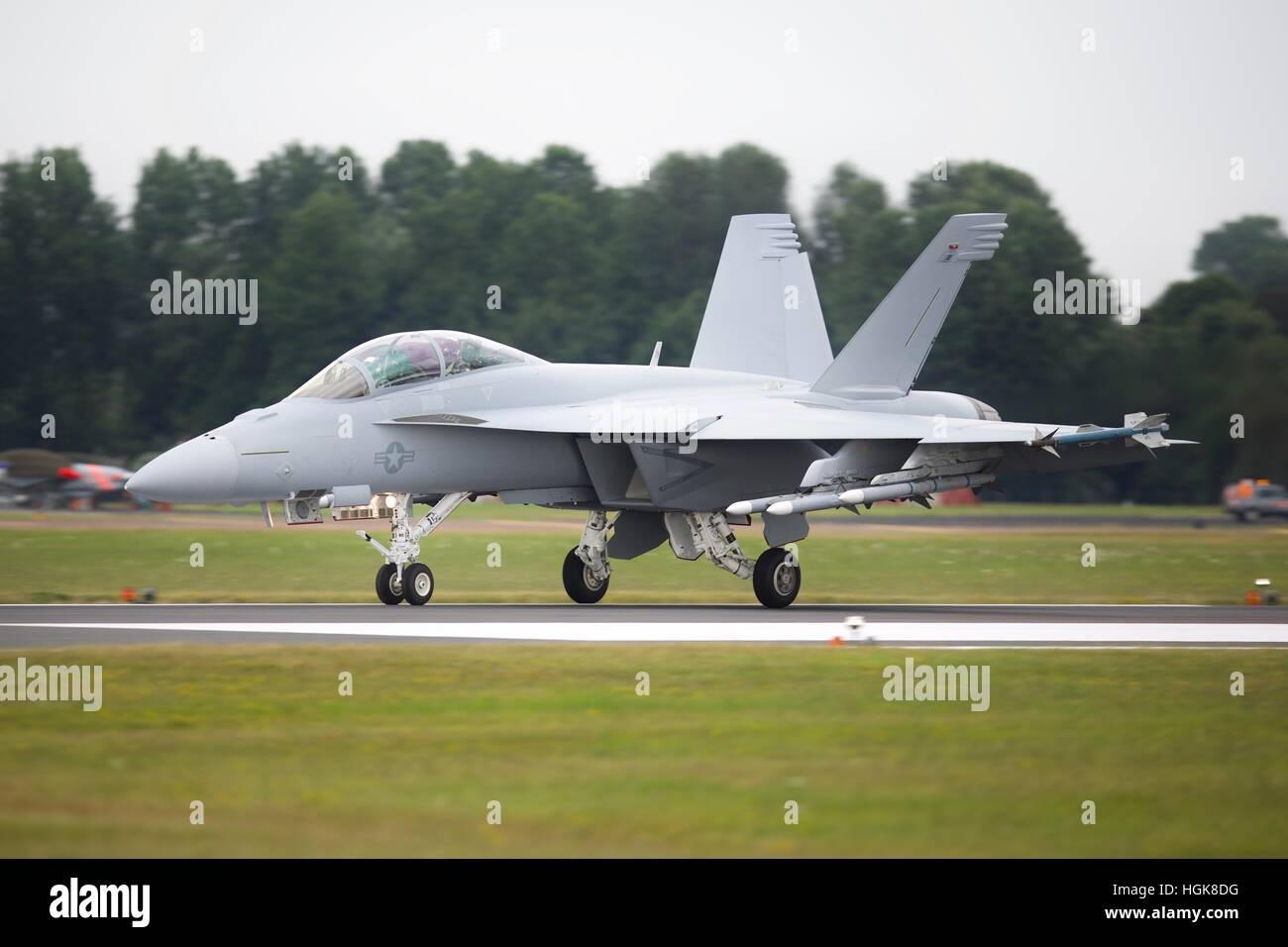 US Navy F/A-18F Super Hornet Stock Photo