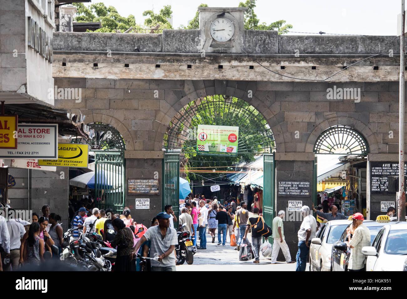 Central Market, Port Louis, Mauritius Stock Photo
