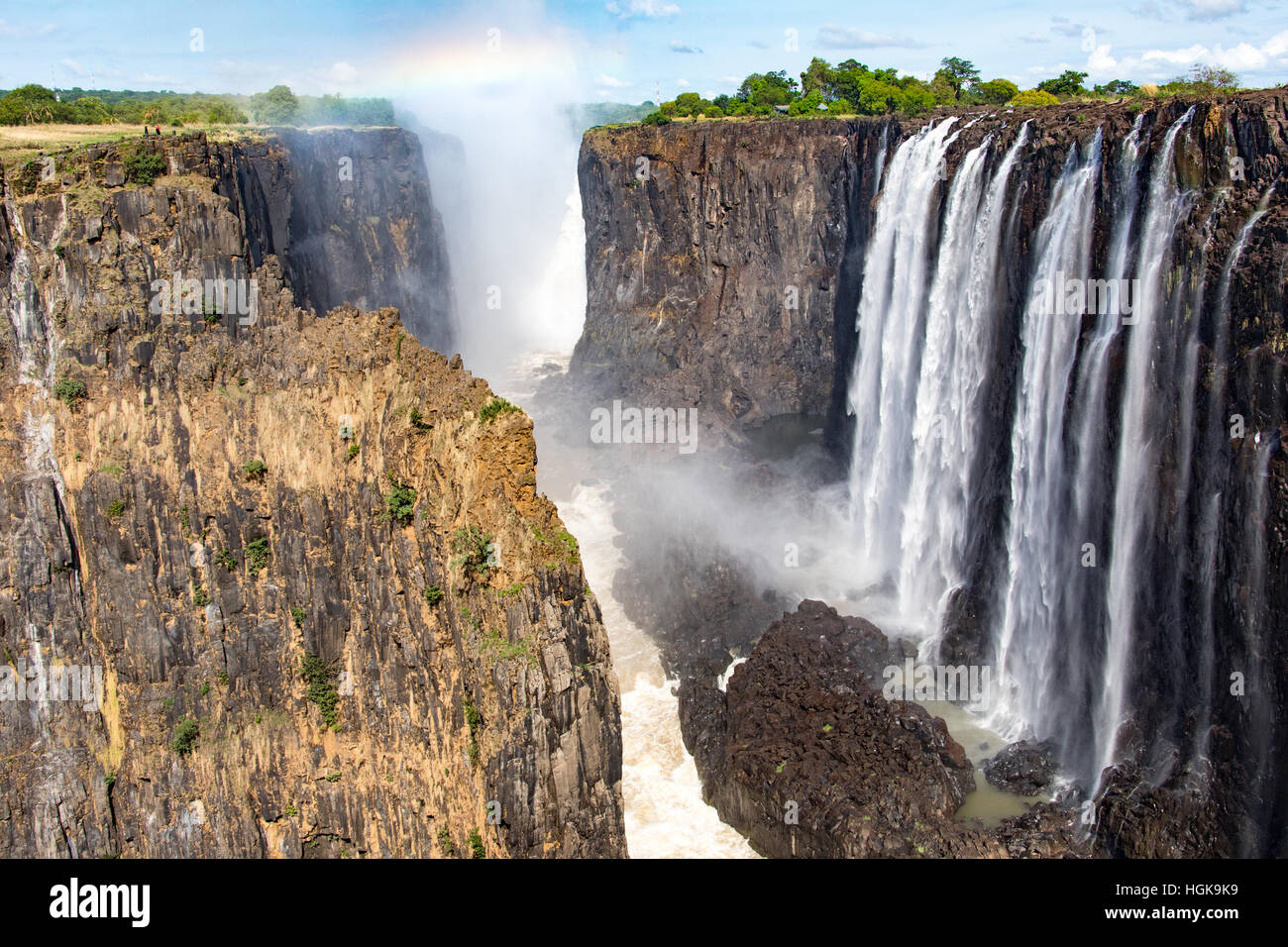 Victoria Falls, Zambia and Zimbabwe border - Stock Image
