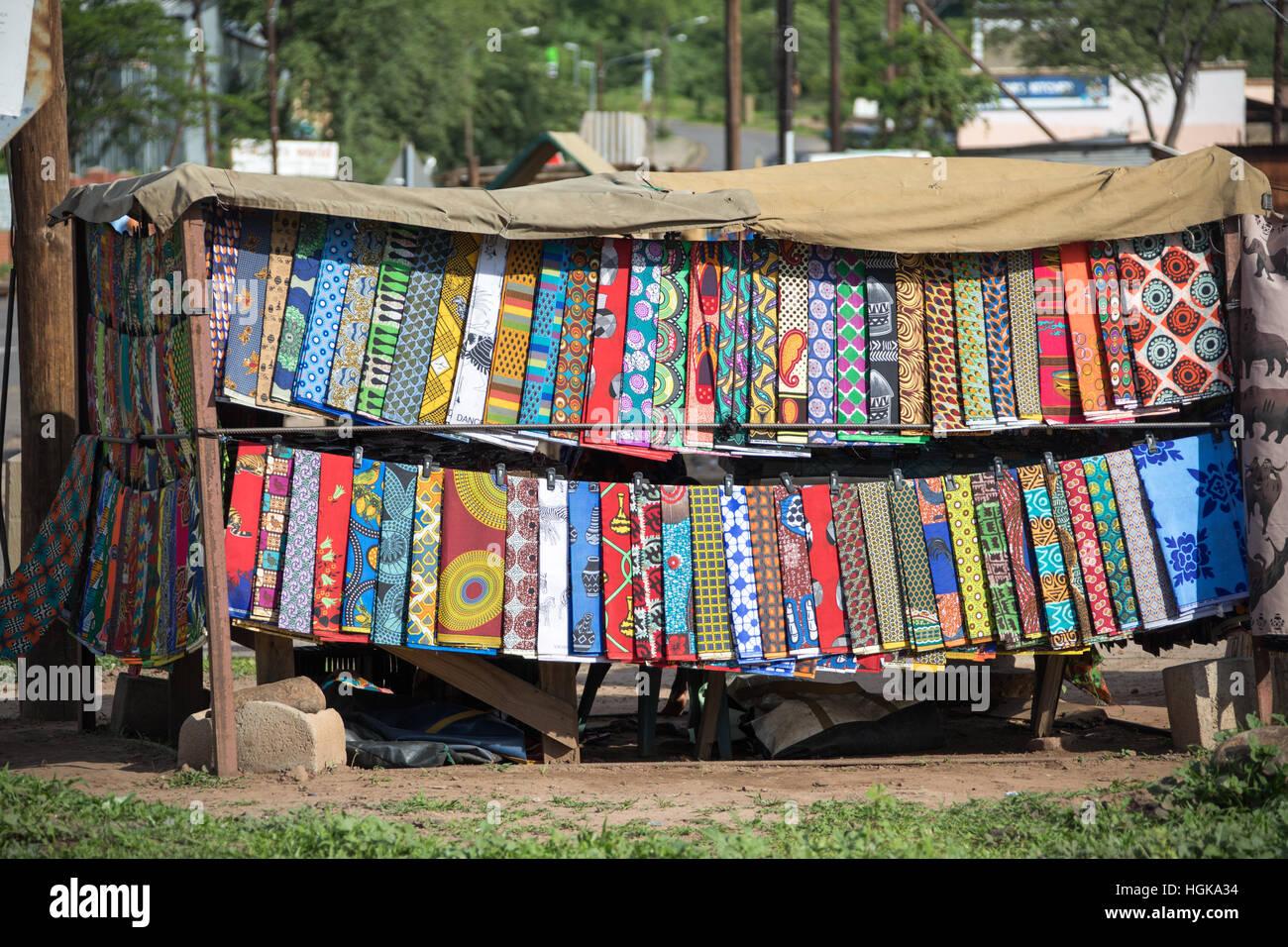 Dress patterns in Kasane, Botswana, Africa - Stock Image