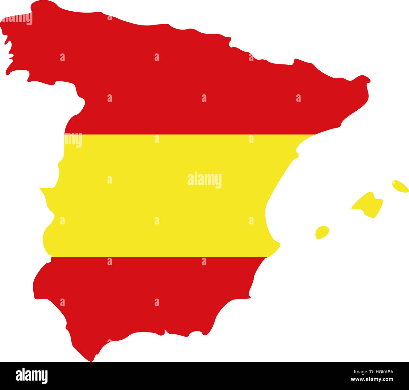 Spain Map With Flag Stock Photo 130732318 Alamy