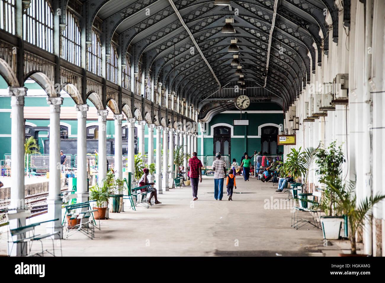 Railway station, Maputo, Mozambique - Stock Image