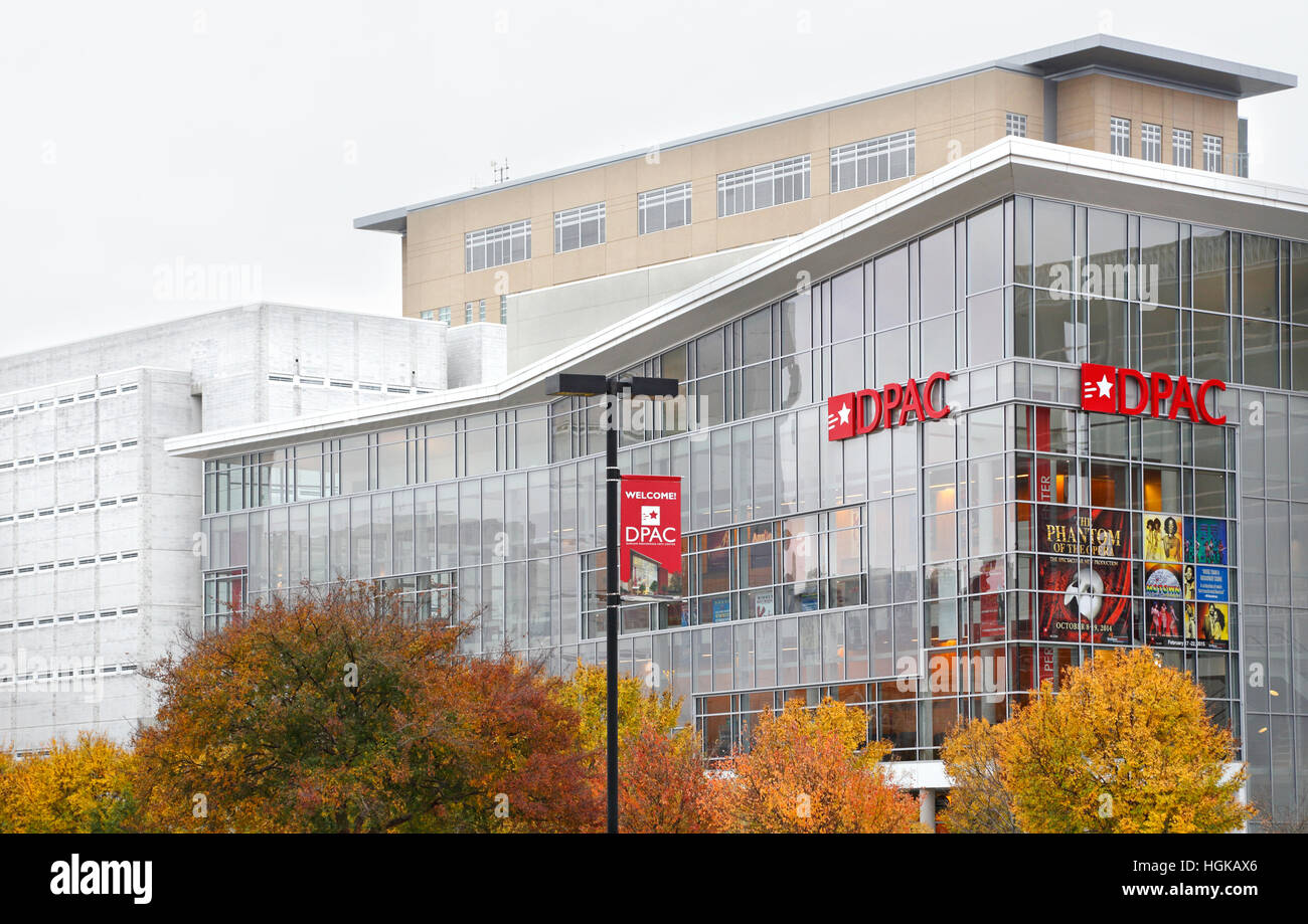 DPAC, Durham Performing Arts Center, Durham, North Carolina. - Stock Image
