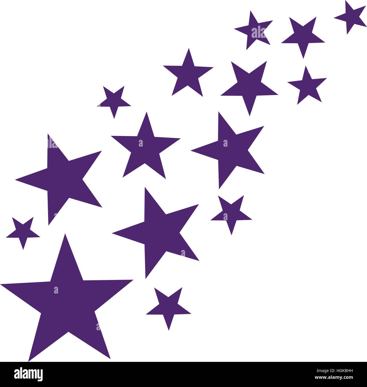 Lila falling stars Stock Photo