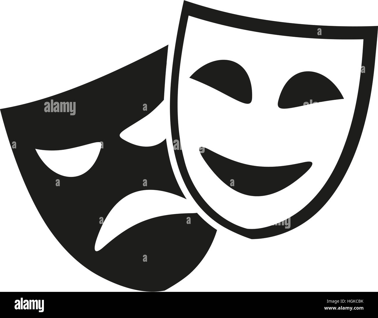 Theater Masks Black And White