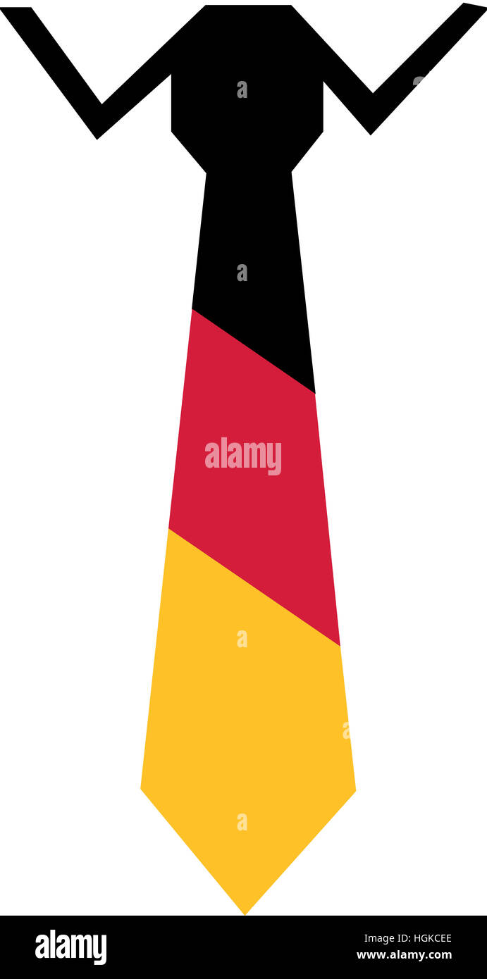 Tie and Shirt with german flag colors - Stock Image