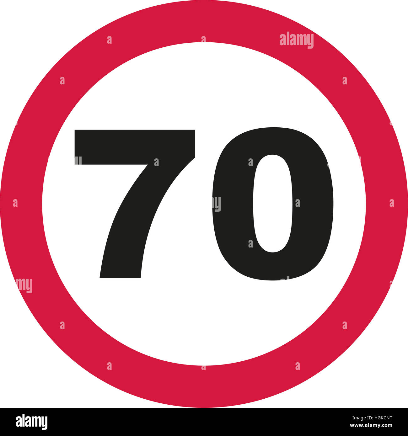 70th Birthday Traffic Sign Stock Photo 130734180 Alamy