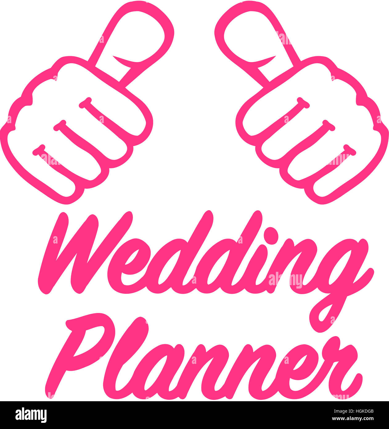 Wedding Planner With Thumbs T Shirt Design Stock Photo 130734811