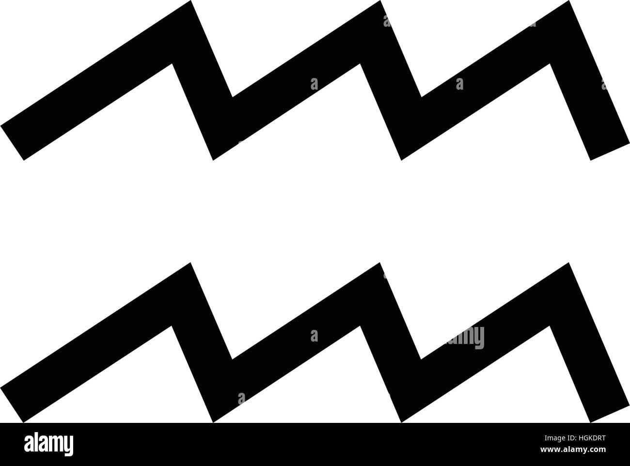 Symbol Aquarius Zodiac Sign Vector Stock Photos Symbol Aquarius