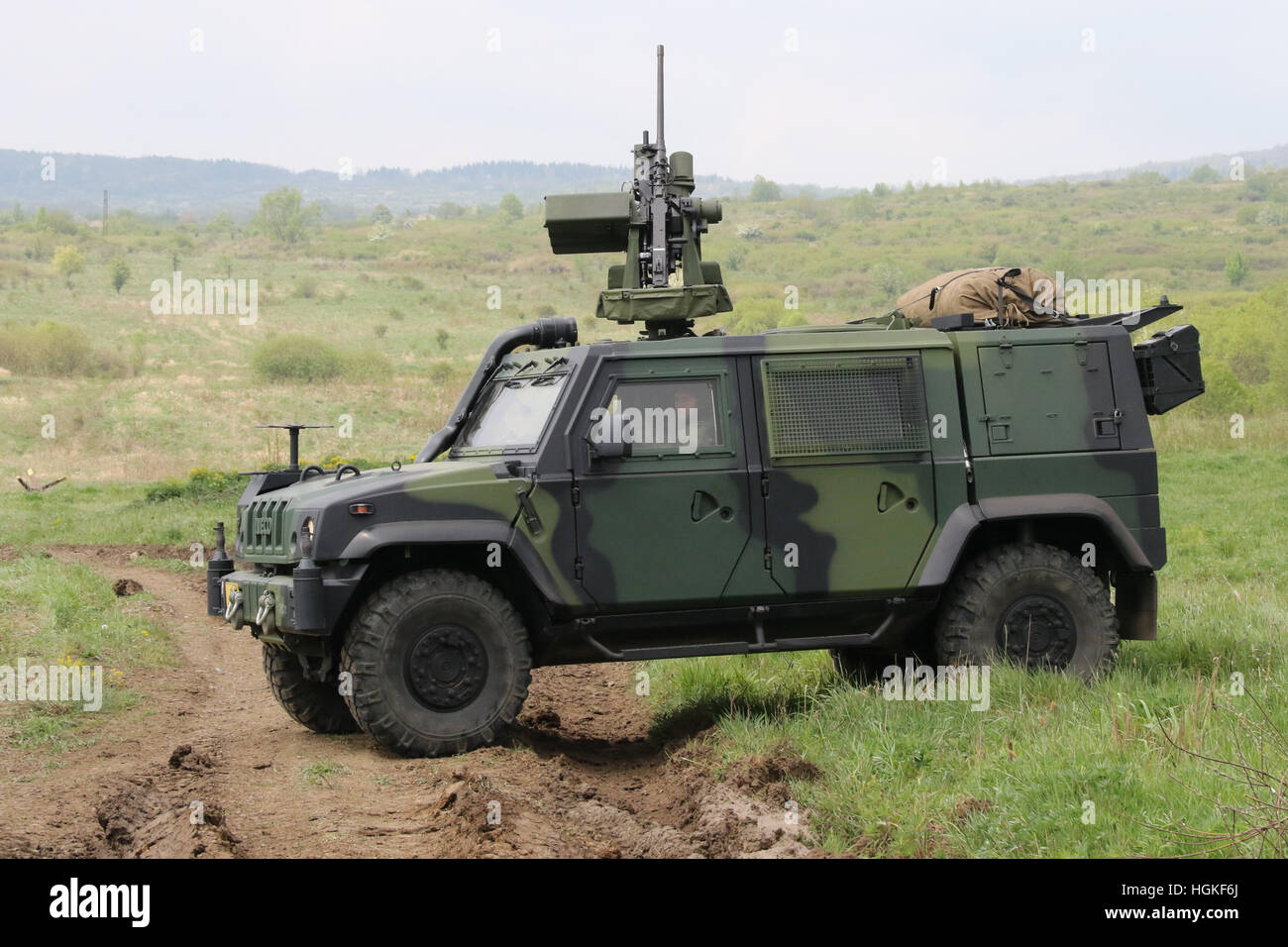Presentation of the Iveco LMV 2 armored vehicle