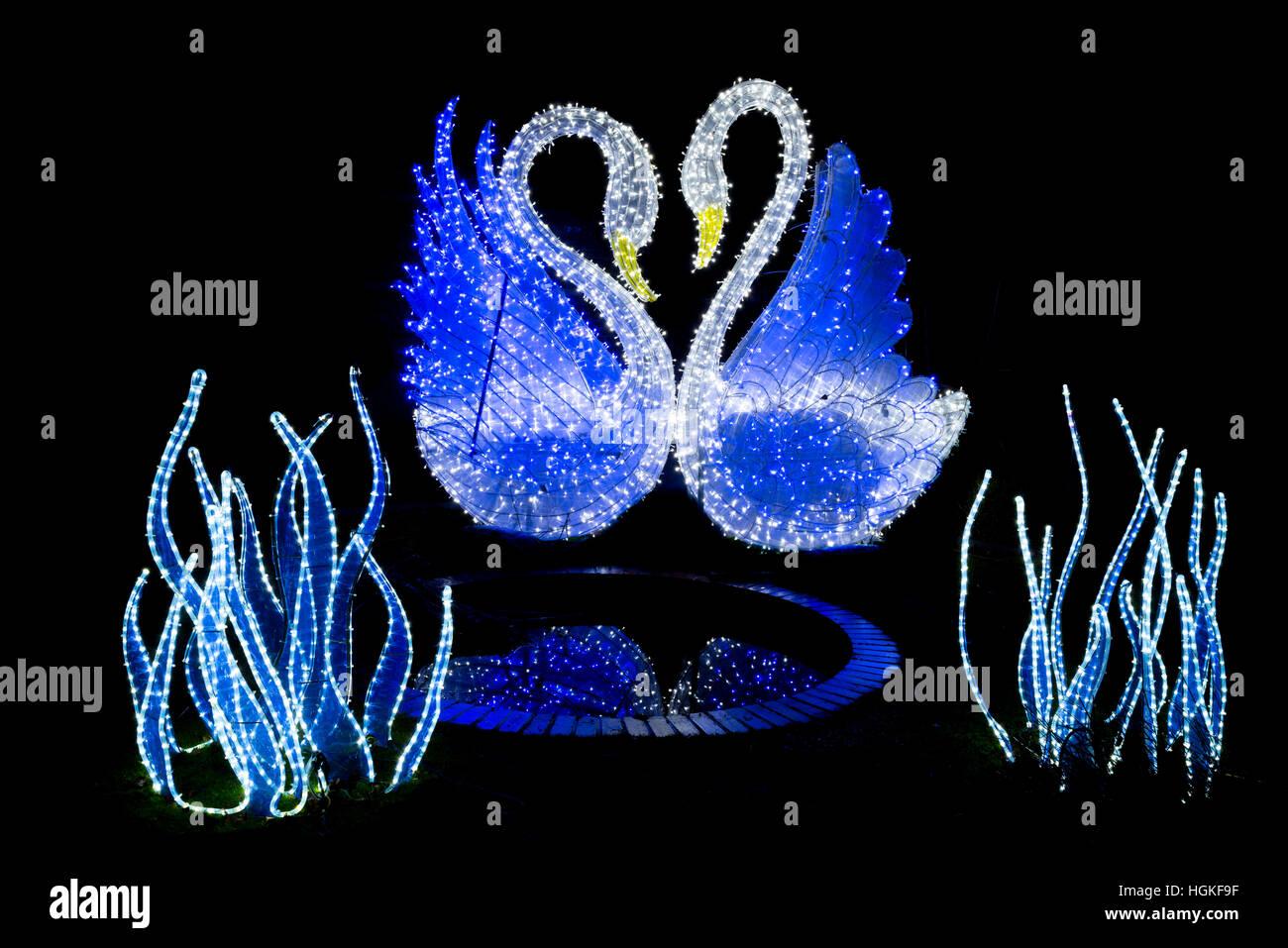 Magical Lantern Festival Yorkshire, Roundhay Park, Leeds, UK Stock Photo