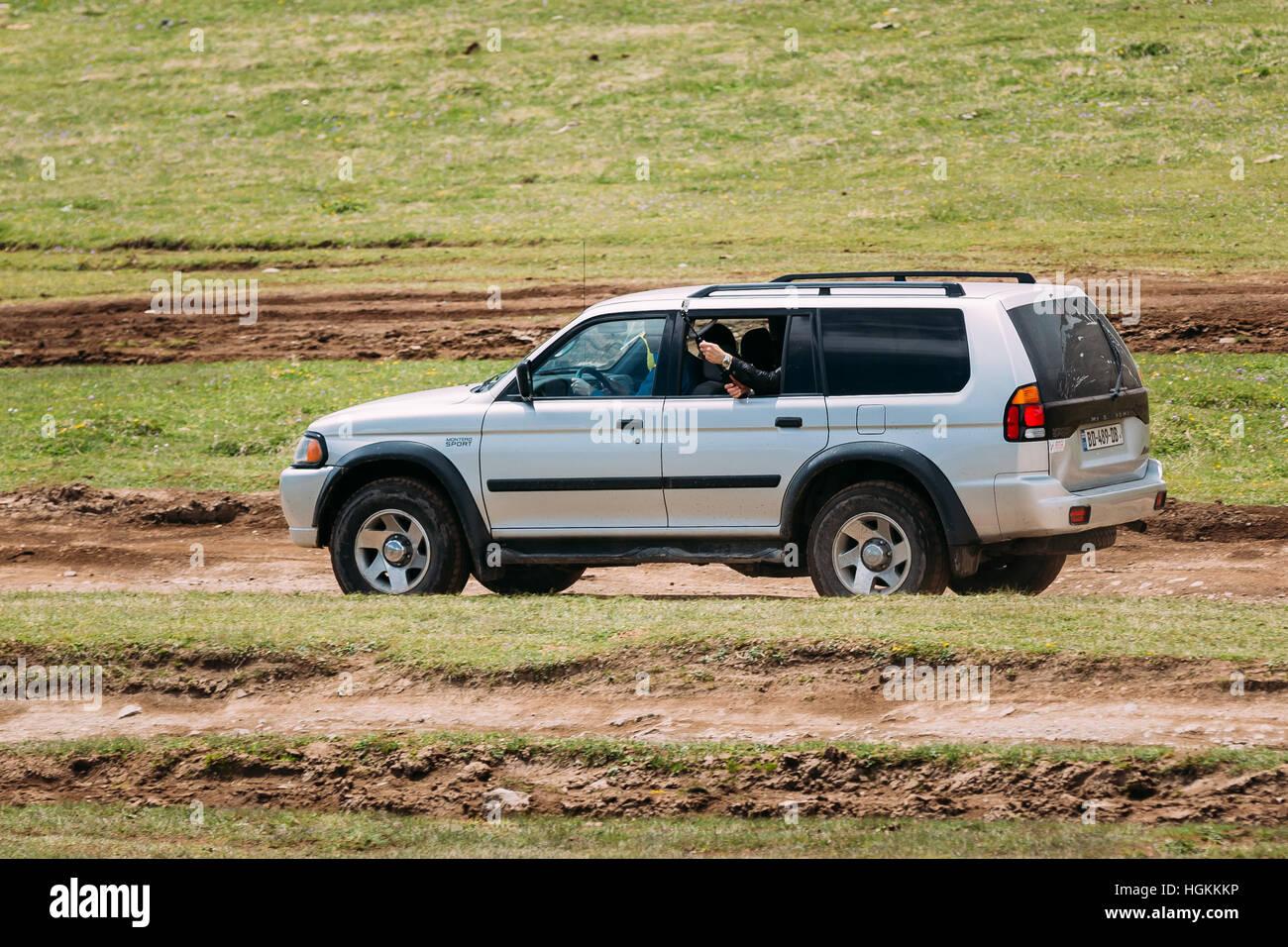 Kazbegi Gergia May 23 2016 Mitsubishi Montero Sport Suv Driving
