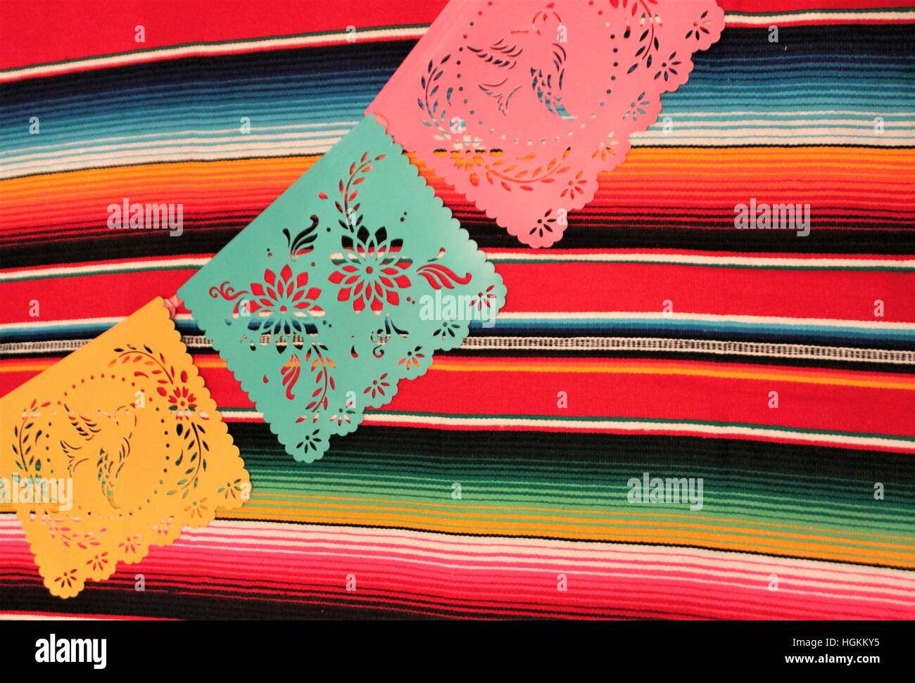 Mexico Poncho Sombrero Skull Background Fiesta Cinco De Mayo Decoration Bunting Flags