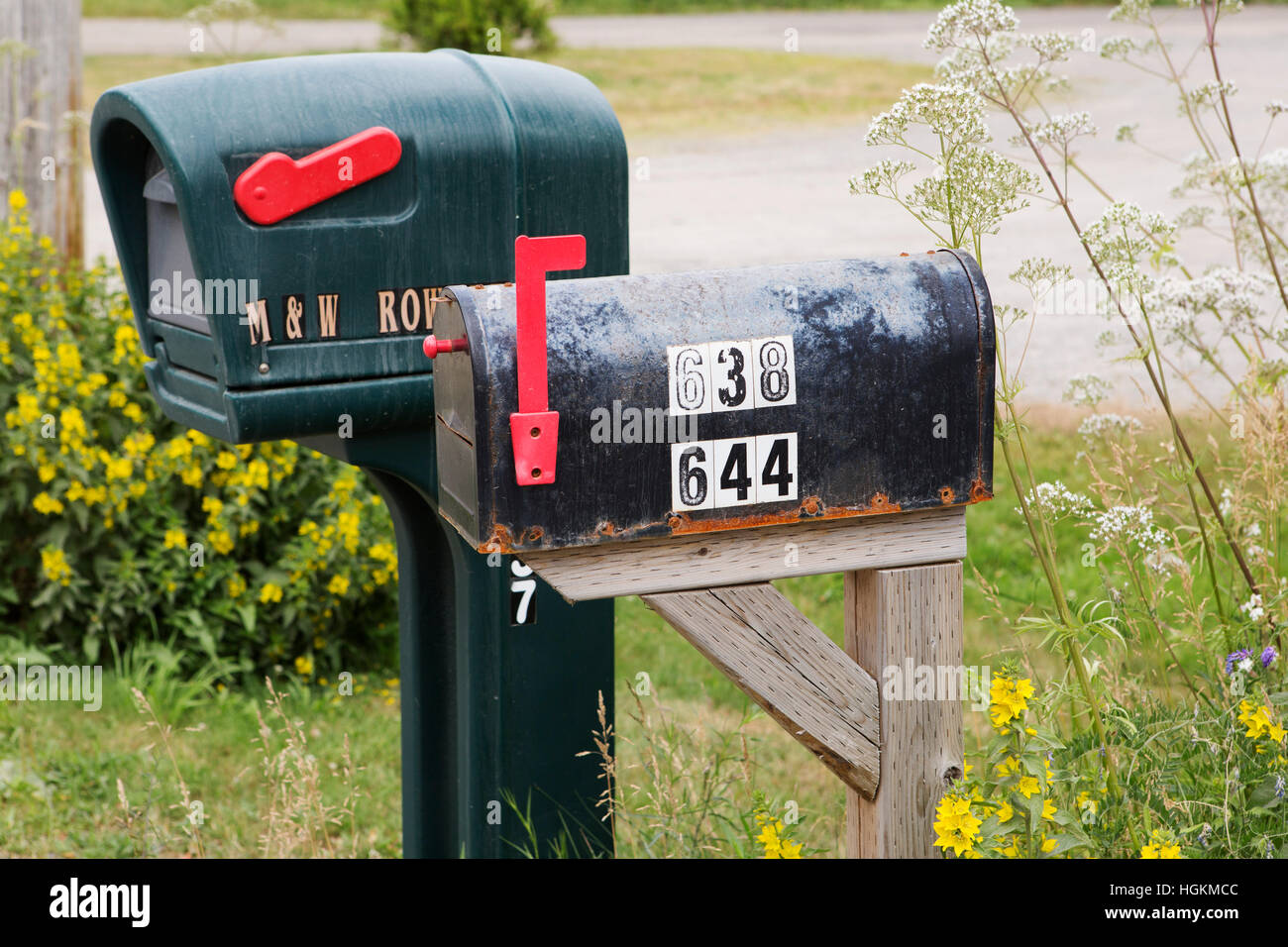 What does the red flag on the mailbox mean