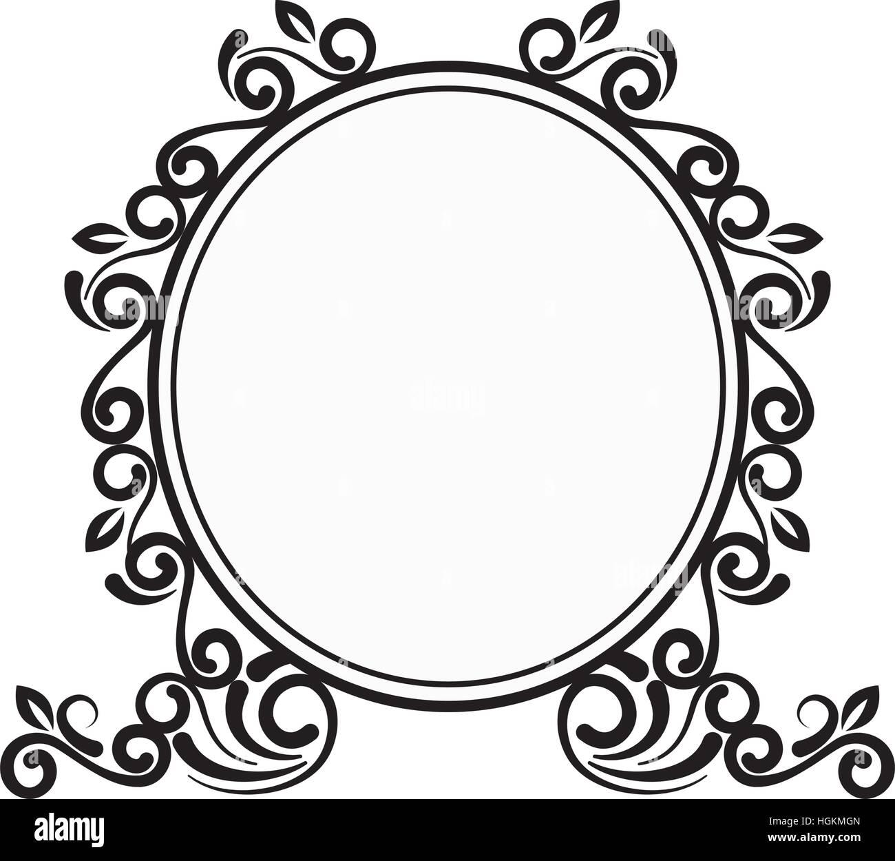 elegant victorian frame icon vector illustration design stock vector rh alamy com  victorian ornamental frame vector