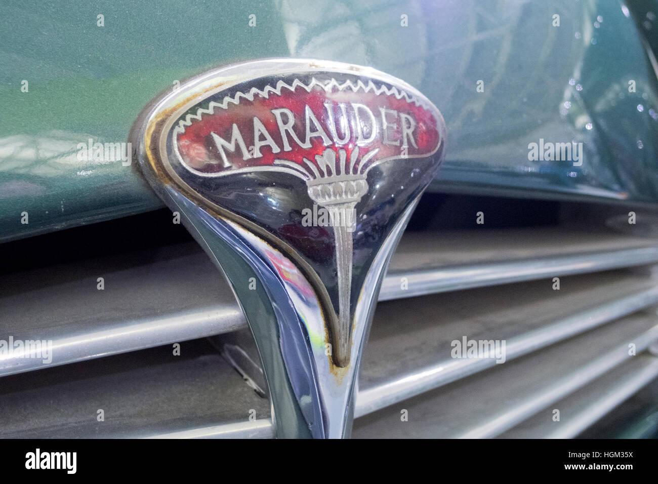 1951 Rover Marauder Car Name Badge, UK - Stock Image