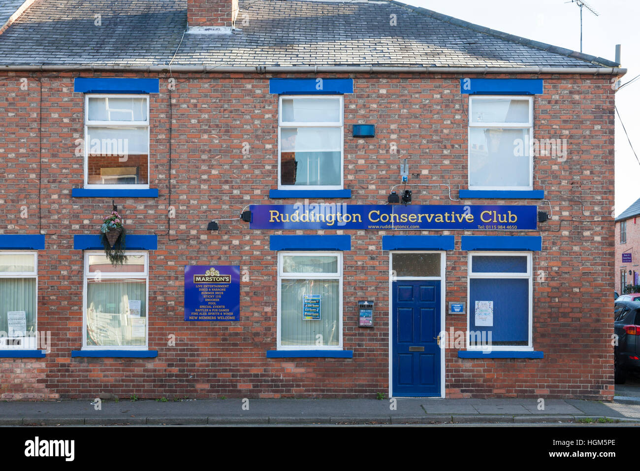 Ruddington Conservative Club, Ruddington, Nottinghamshire, England, UK - Stock Image