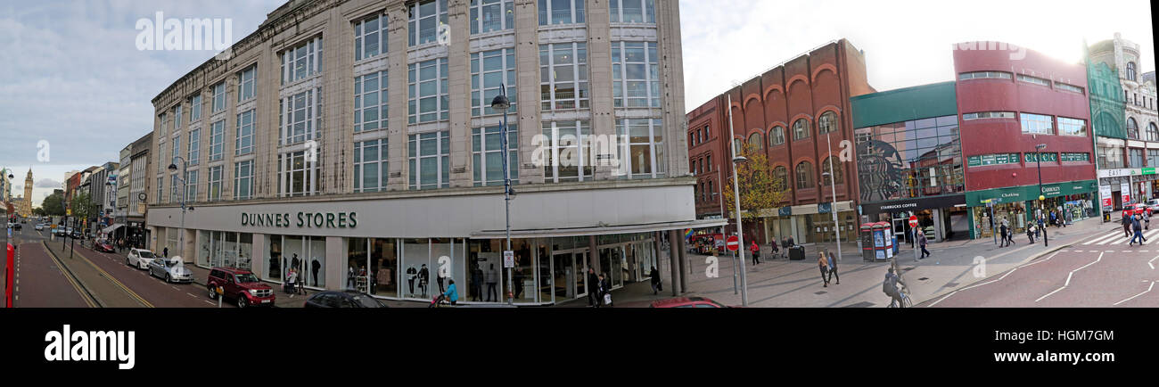 Dunns Stores Panorama, Belfast, Northern Ireland, England, UK - Stock Image