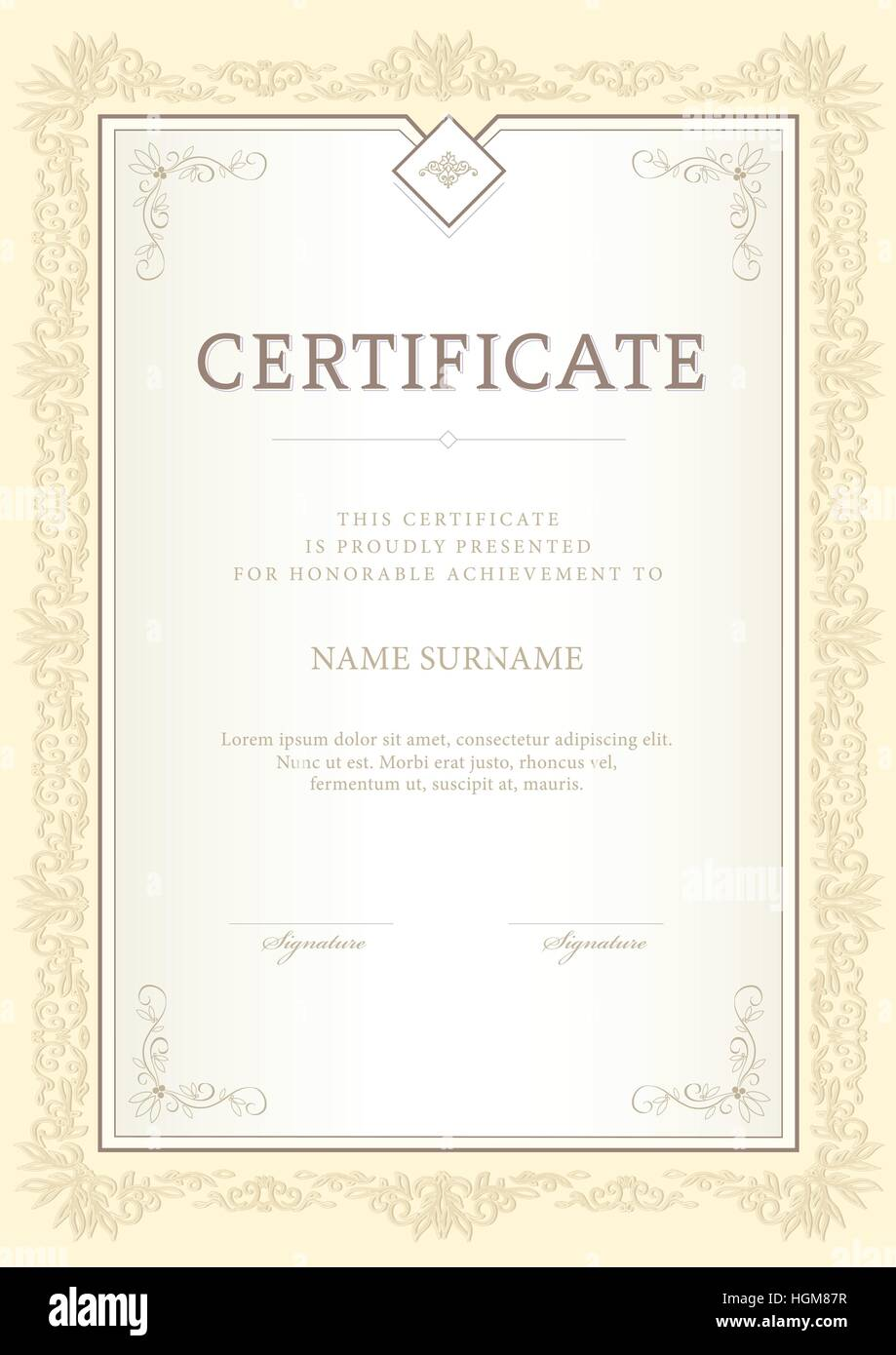 Certificate Diploma Completion Vector Design Stock Photos ...
