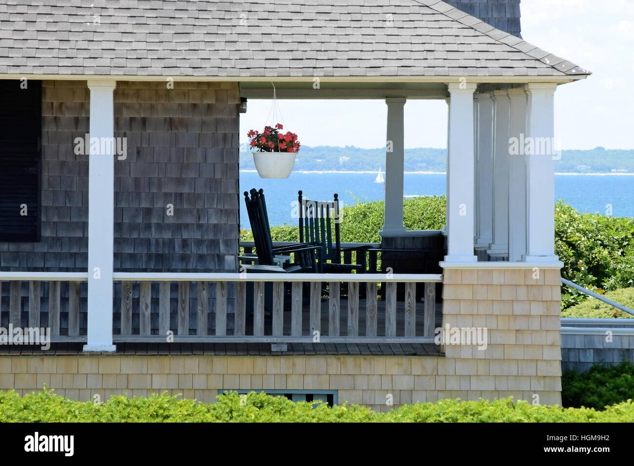 Strange A New England Front Porch On Marthas Vineyard Caraccident5 Cool Chair Designs And Ideas Caraccident5Info