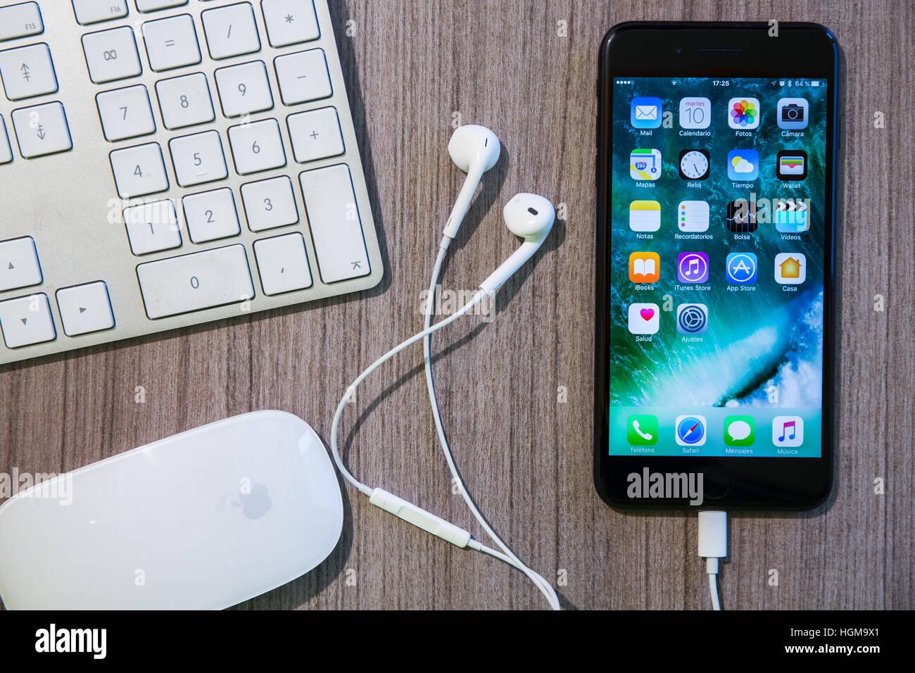 Apple Iphone Plus Display Apps Stock Photos Apple Iphone Plus