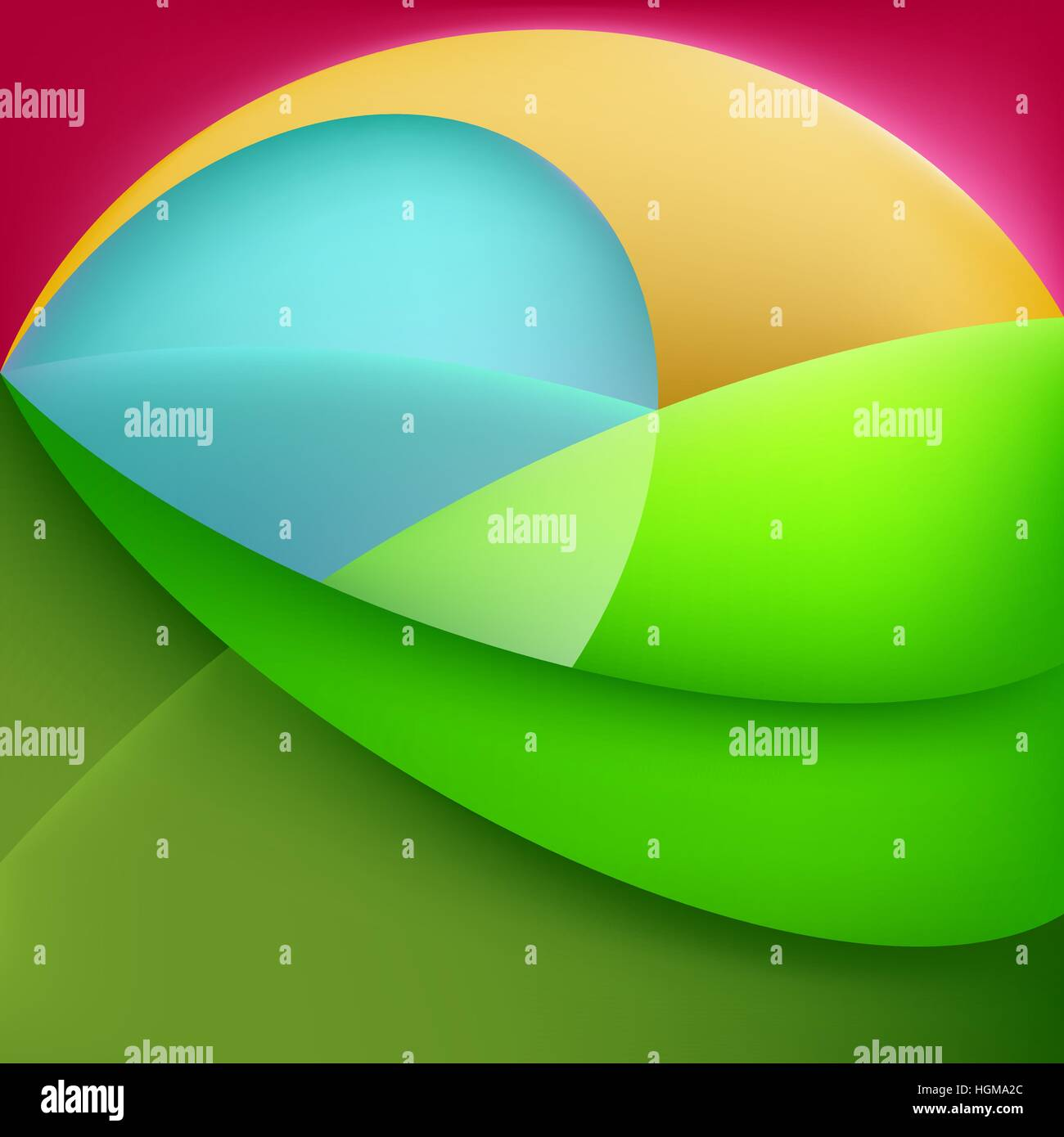 Abstract shapes from curves with transparency and gradients. EPS10 vector illustration - Stock Image