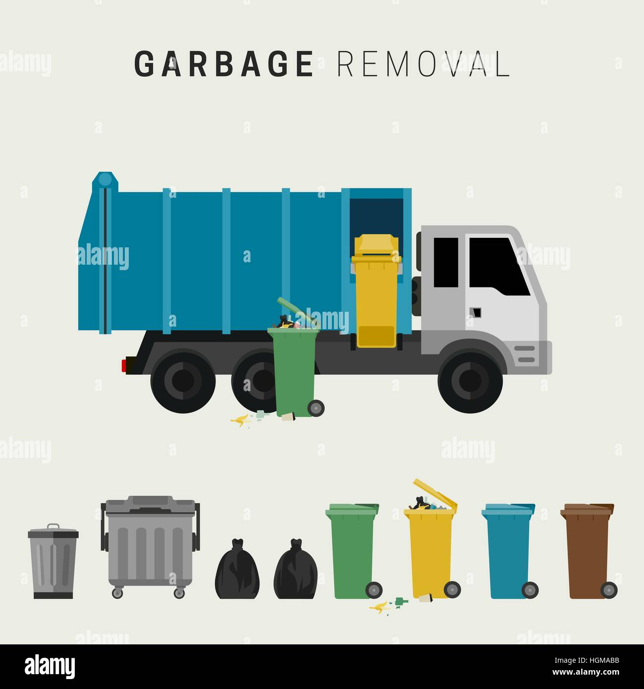 Garbage removal - Stock Vector