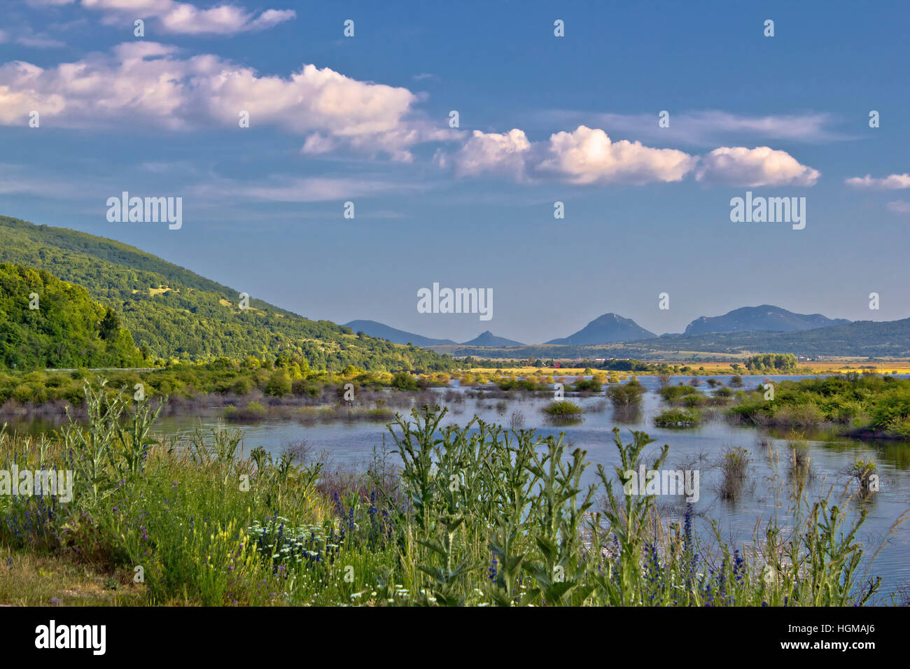 Field of Krbava in Lika region od Croatia - Stock Image