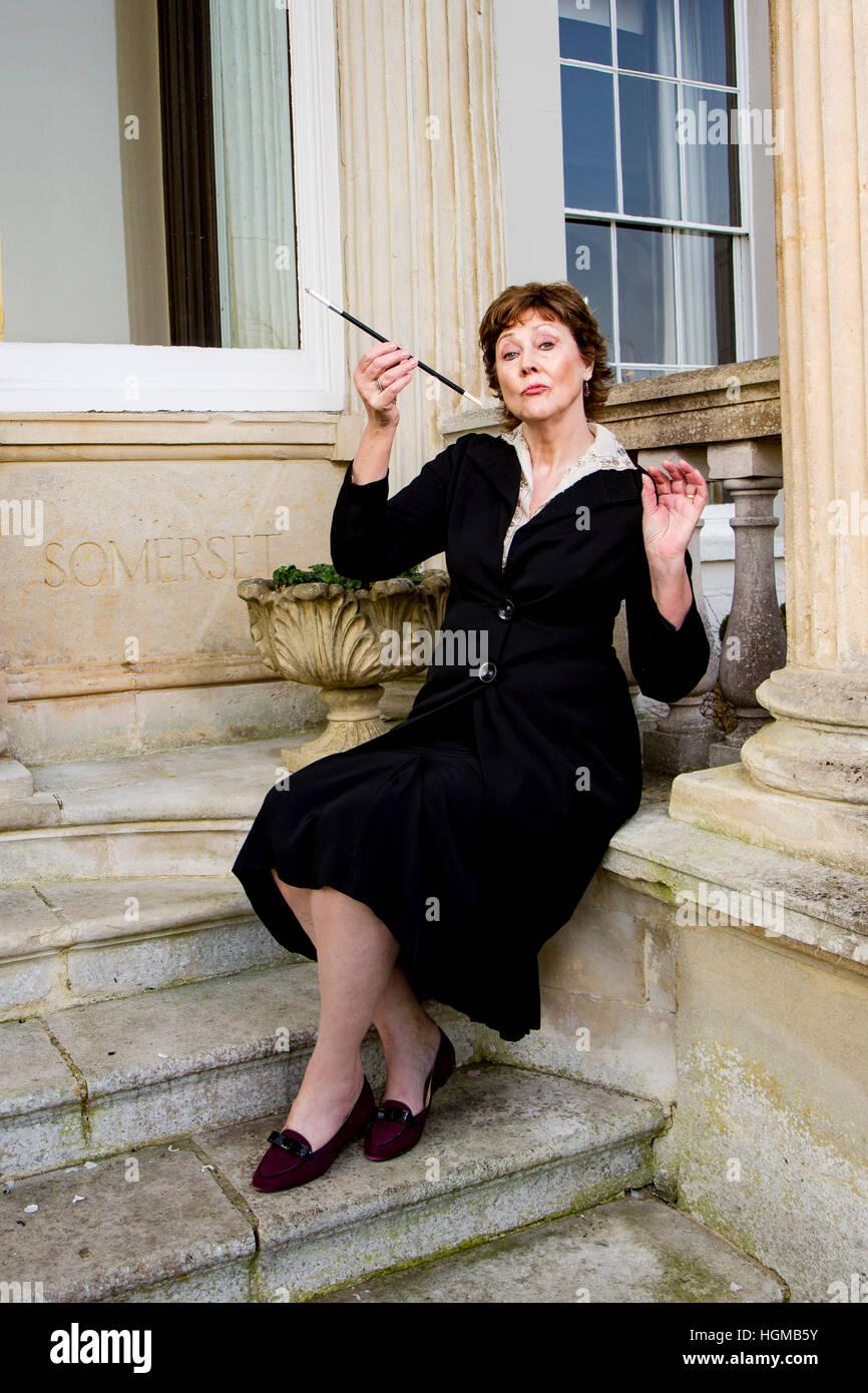 Posh British lady - Stock Image