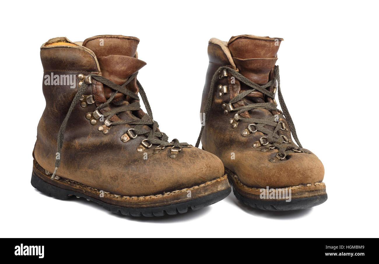 d1dfa6c03639 Old boots used isolated on white background Stock Photo  130755305 ...