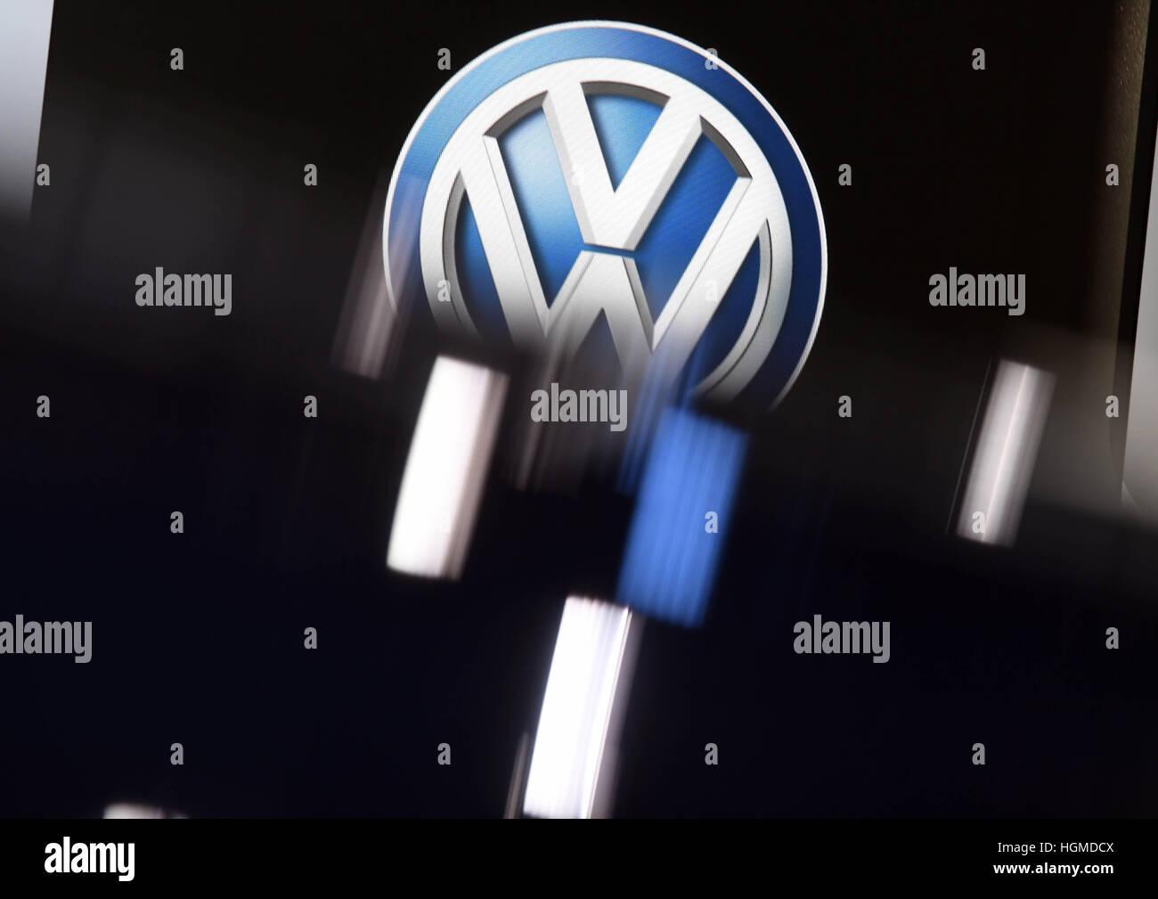 Detroit Usa 09th Jan 2017 The Logo Of The German Car Company