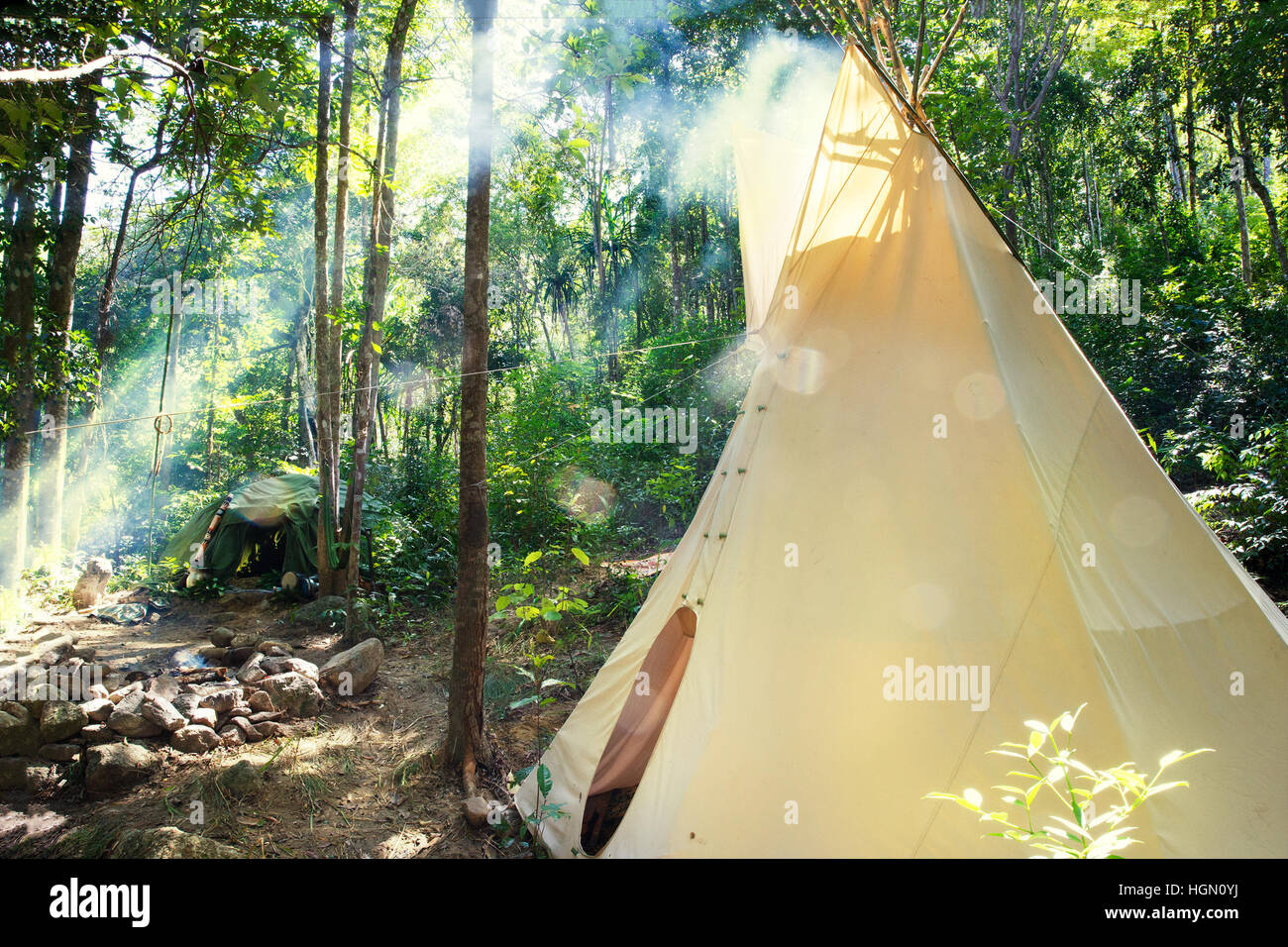Mexican or Indian Sauna Hut - Stock image - Stock Image
