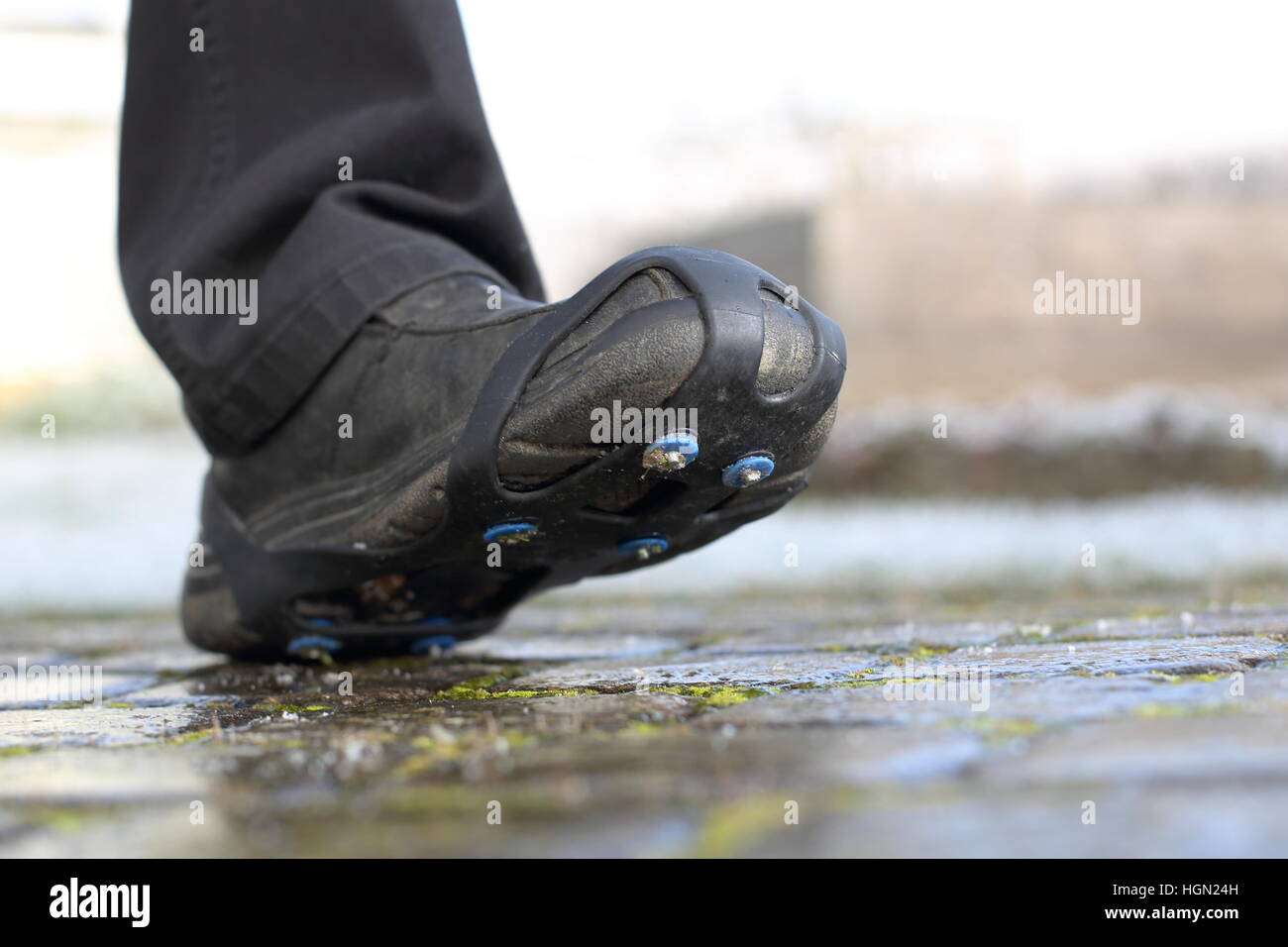 Shoe spikes, snow, chains, Shoe, ice,  winter - Stock Image